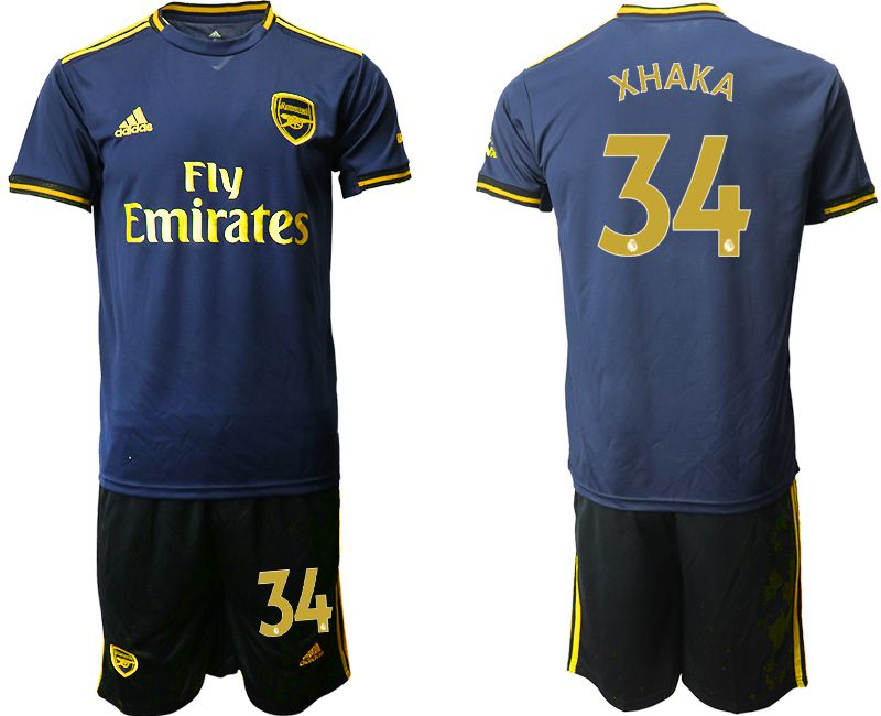 Men 2019-2020 club Arsenal away 34 blue Soccer Jerseys