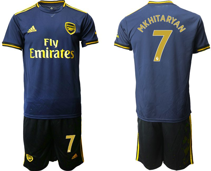 Men 2019-2020 club Arsenal away 7 blue Soccer Jerseys