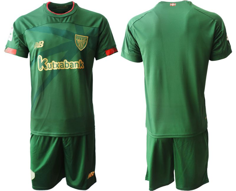 Men 2019-2020 club Athletic Bilbao away blank green Soccer Jerseys