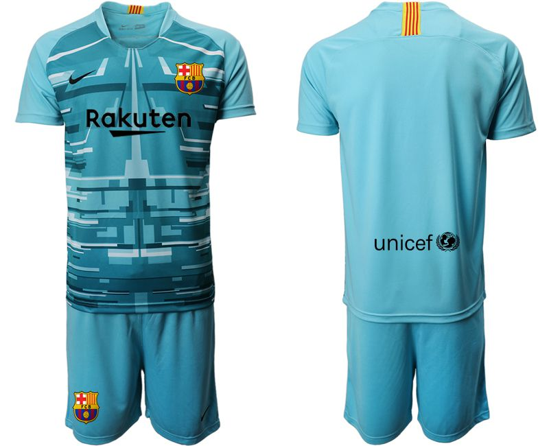 Men 2019-2020 club Barcelona lake blue goalkeeper Soccer Jerseys