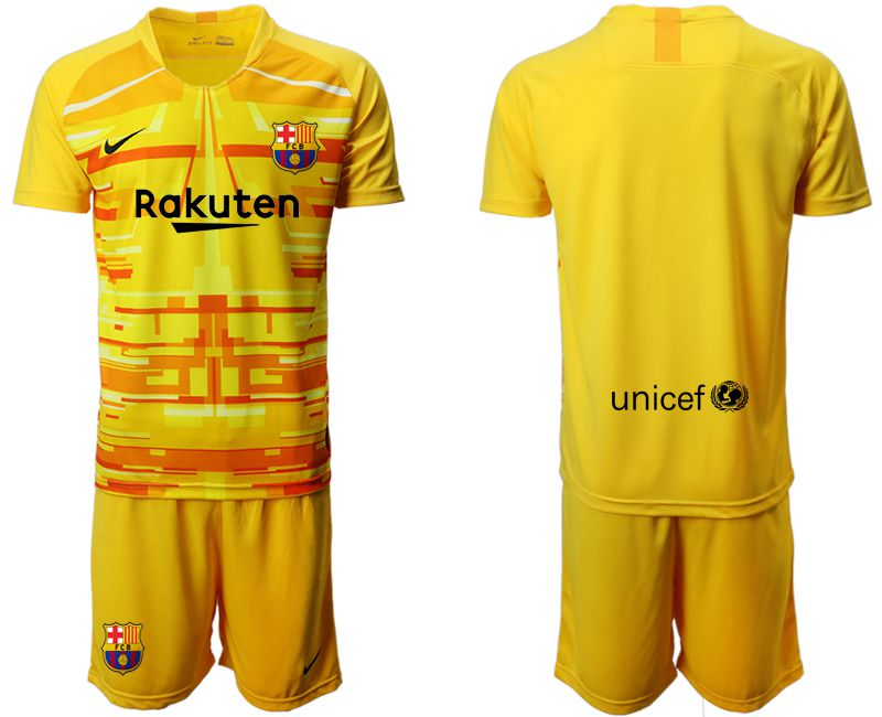 Men 2019-2020 club Barcelona yellow goalkeeper Soccer Jerseys