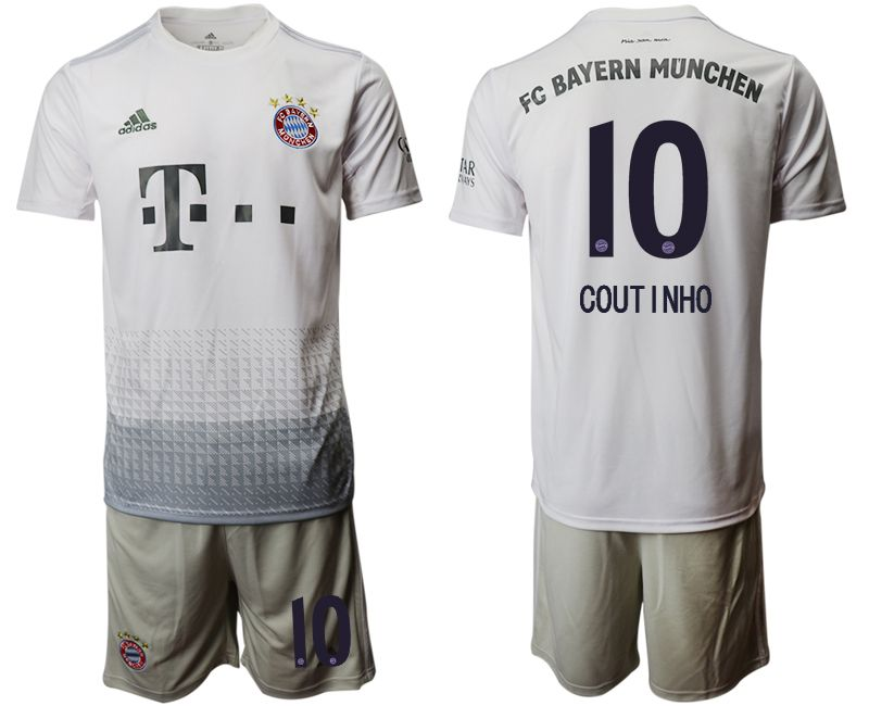 Men 2019-2020 club Bayern Munich away 10 white Soccer Jerseys