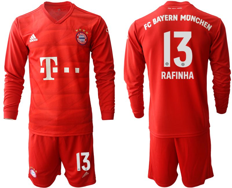 Men 2019-2020 club Bayern Munich home long sleeves 13 red Soccer Jerseys