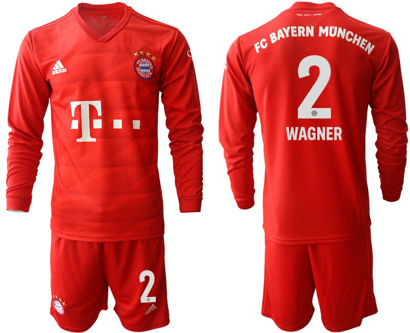 Men 2019-2020 club Bayern Munich home long sleeves 2 red Soccer Jerseys