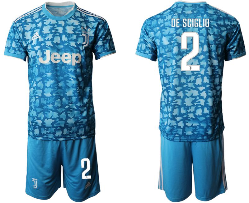Men 2019-2020 club Juventus FC away 2 blue Soccer Jerseys
