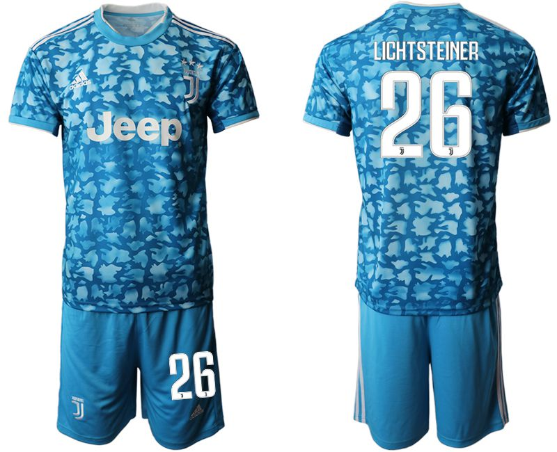 Men 2019-2020 club Juventus FC away 26 blue Soccer Jerseys
