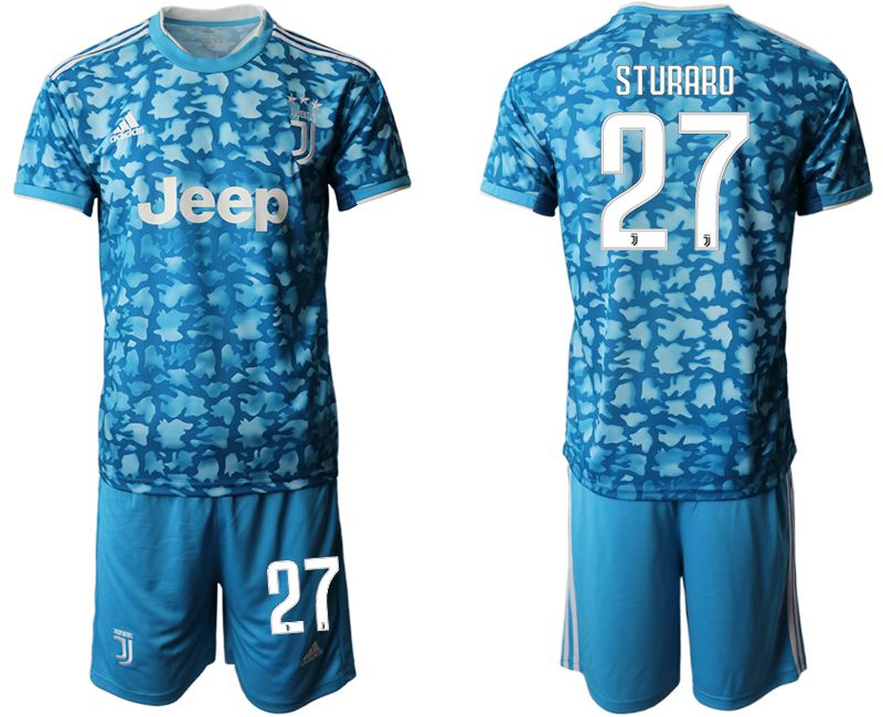 Men 2019-2020 club Juventus FC away 27 blue Soccer Jerseys