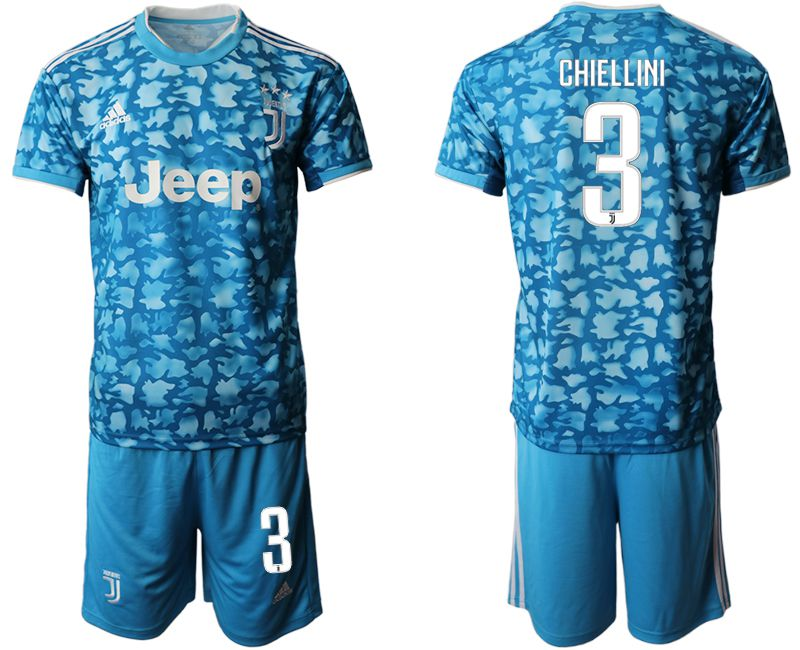 Men 2019-2020 club Juventus FC away 3 blue Soccer Jerseys