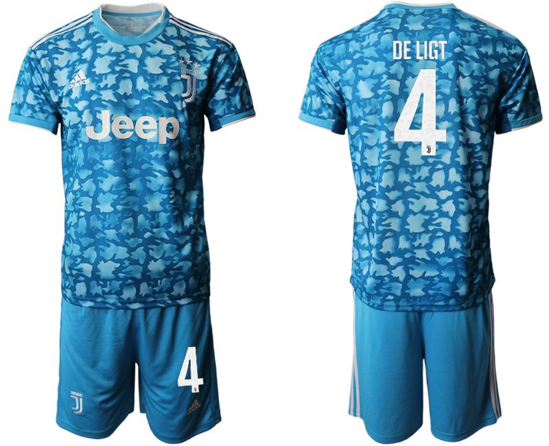 Men 2019-2020 club Juventus FC away 4 blue Soccer Jerseys