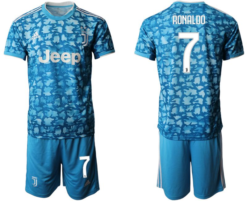Men 2019-2020 club Juventus FC away 7 blue Soccer Jerseys
