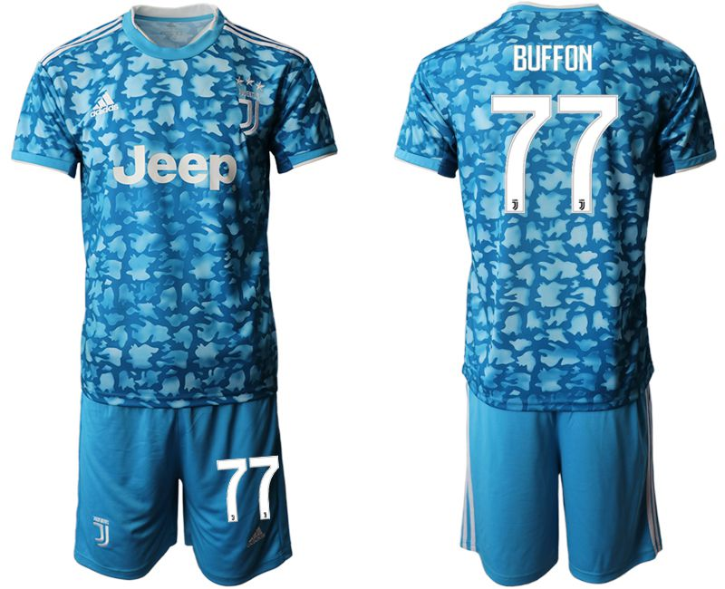 Men 2019-2020 club Juventus FC away 77 blue Soccer Jerseys