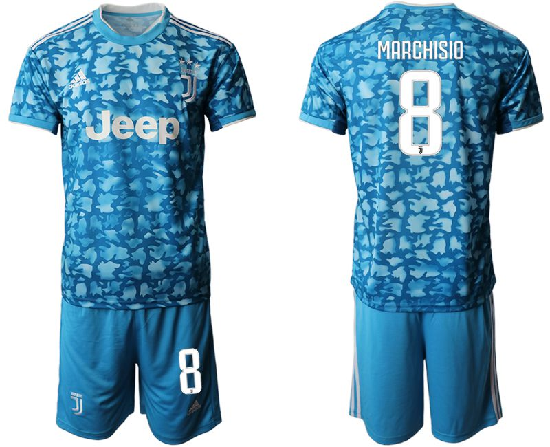 Men 2019-2020 club Juventus FC away 8 blue Soccer Jerseys