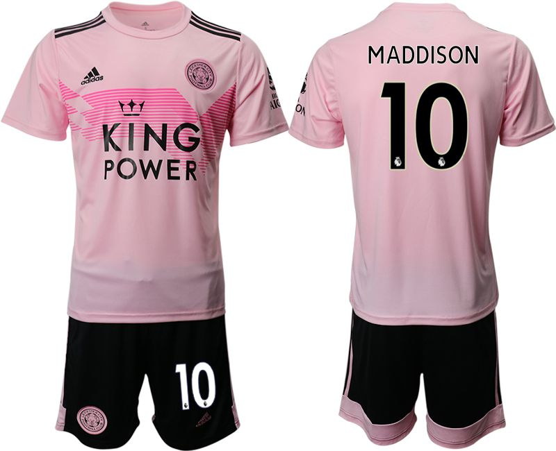 Men 2019-2020 club Leicester City away 10 pink Soccer Jerseys