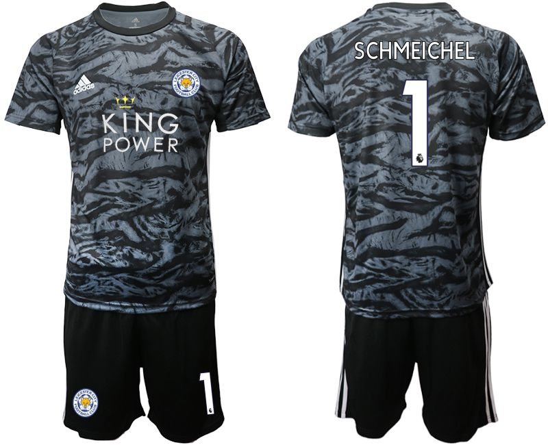 Men 2019-2020 club Leicester City black goalkeeper 1 Soccer Jerseys