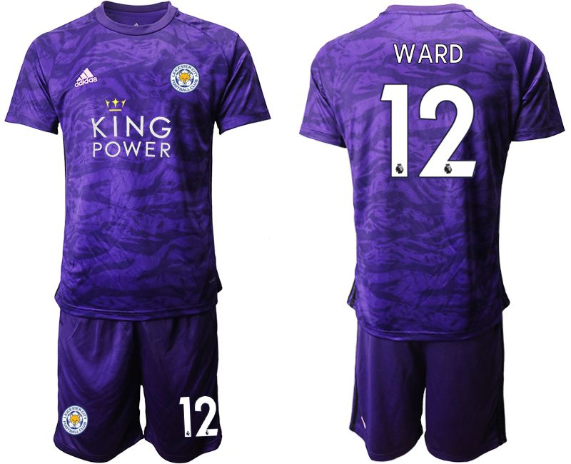 Men 2019-2020 club Leicester City purple Goalkeeper 12 Soccer Jerseys