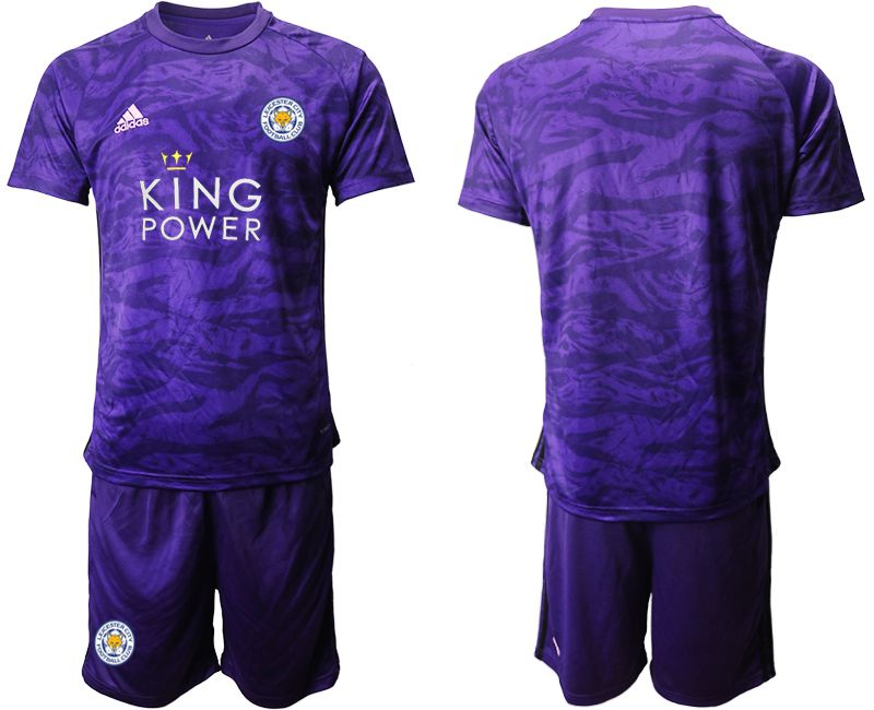 Men 2019-2020 club Leicester City purple Goalkeeper Soccer Jersey
