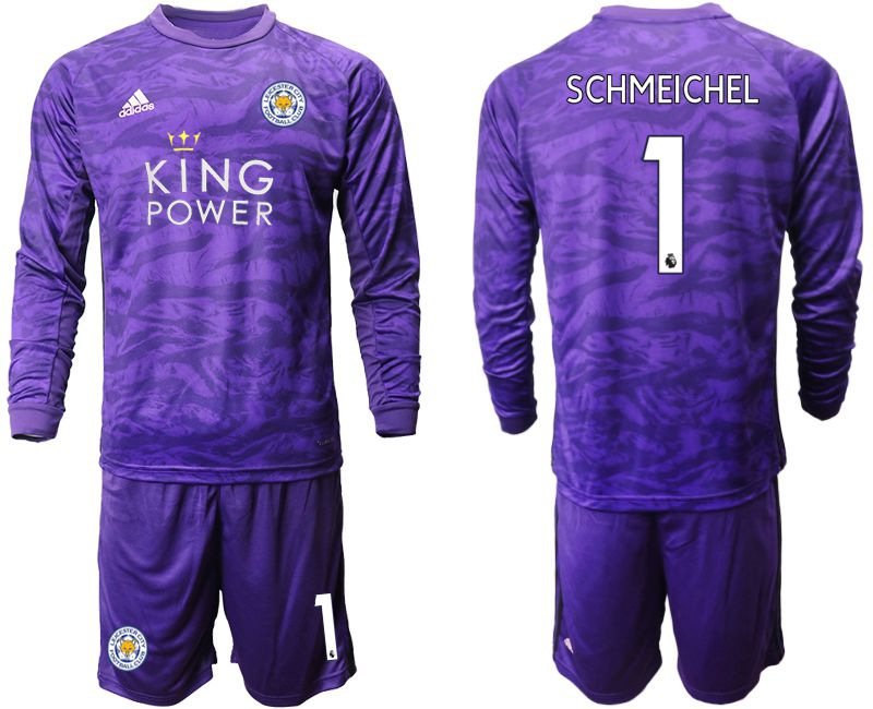 Men 2019-2020 club Leicester City purple long sleeved Goalkeeper 1 Soccer Jersey