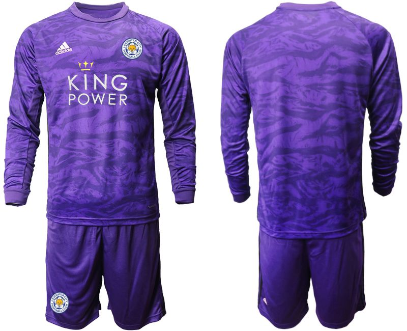 Men 2019-2020 club Leicester City purple long sleeved Goalkeeper Soccer Jersey
