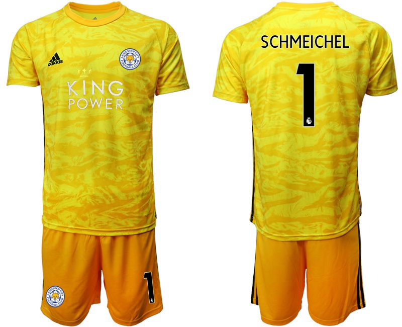 Men 2019-2020 club Leicester City yellow goalkeeper 1 Soccer Jerseys