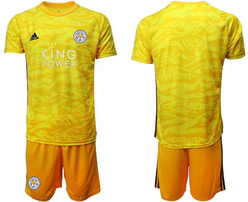 Men 2019-2020 club Leicester City yellow goalkeeper Soccer Jerseys