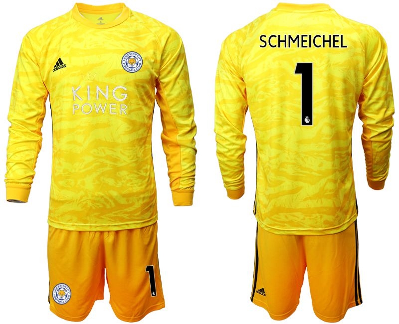 Men 2019-2020 club Leicester City yellow goalkeeper long sleeve 1 Soccer Jerseys