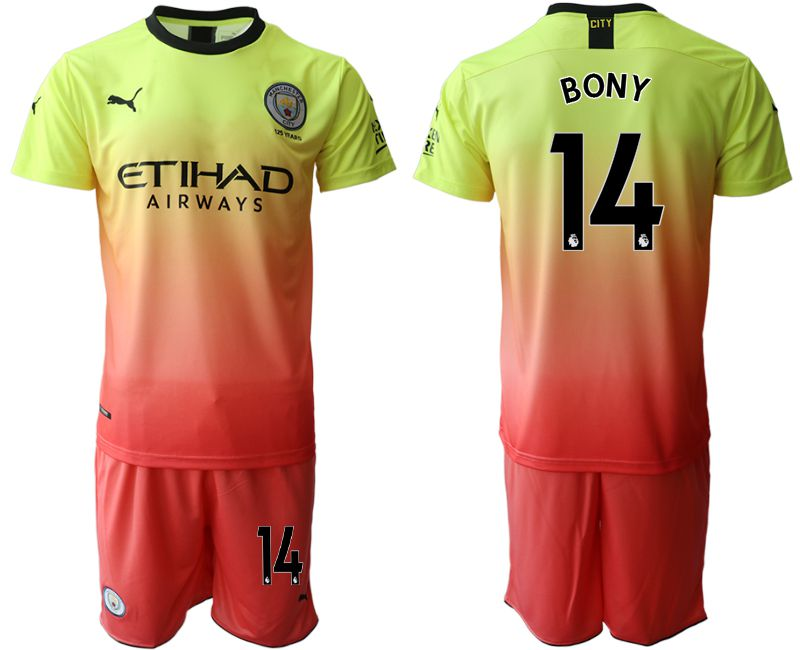 Men 2019-2020 club Manchester City away 14 yellow Soccer Jerseys
