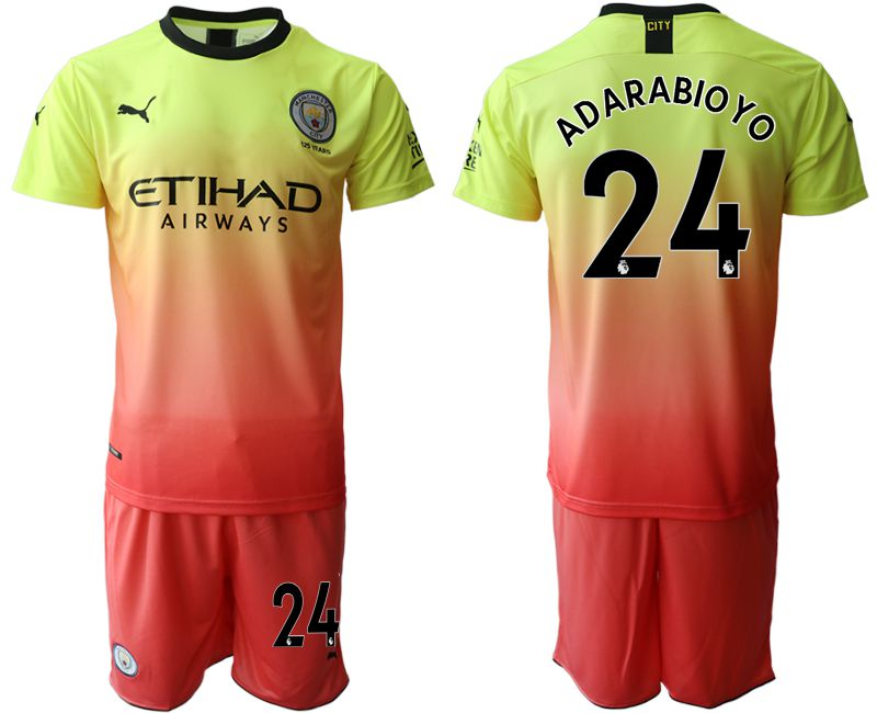 Men 2019-2020 club Manchester City away 24 yellow Soccer Jerseys