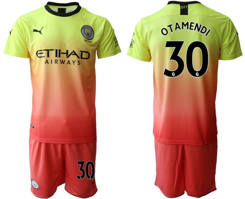 Men 2019-2020 club Manchester City away 30 yellow Soccer Jerseys