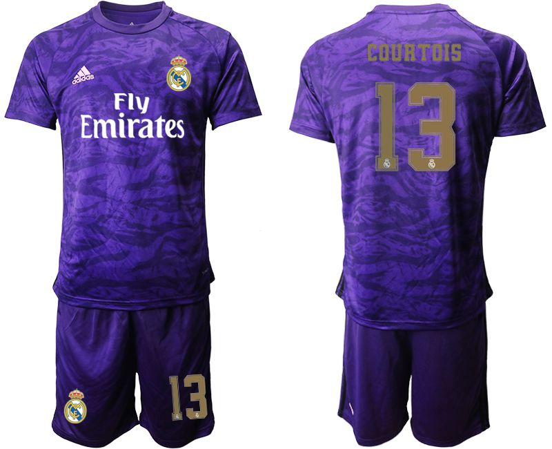 Men 2019-2020 club Real Madrid purple Goalkeeper 13 Soccer Jersey