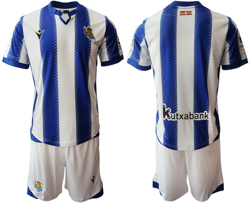Men 2019-2020 club Real Sociedad home blue Soccer Jerseys