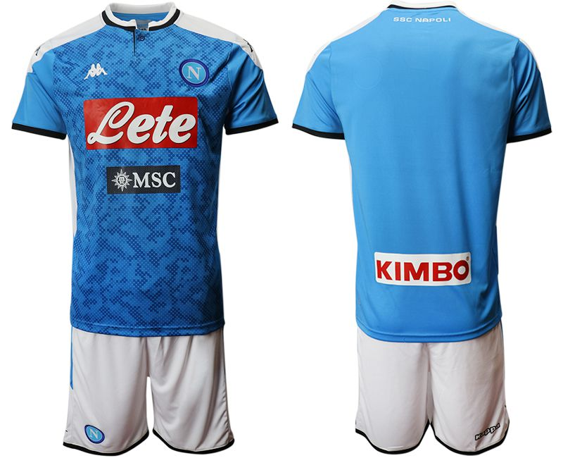 Men 2019-2020 club SSC Napoli home blue Soccer Jerseys