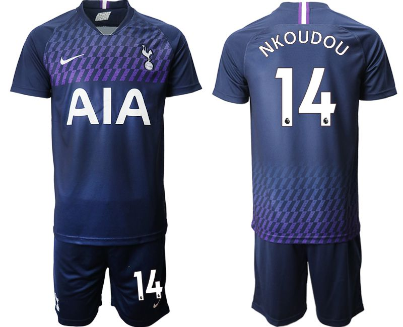 Men 2019-2020 club Tottenham Hotspur away 14 blue Soccer Jerseys