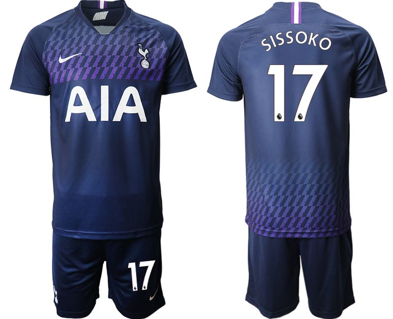 Men 2019-2020 club Tottenham Hotspur away 17 blue Soccer Jerseys