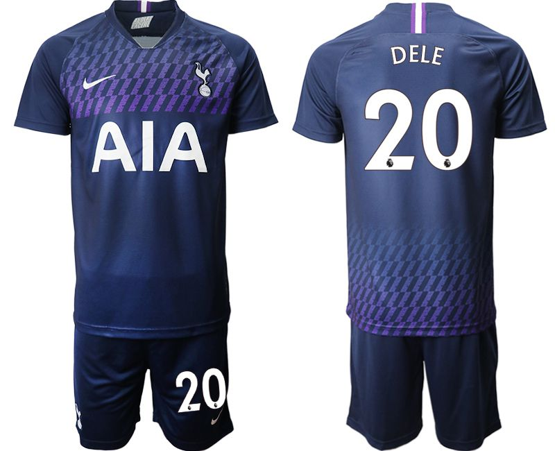 Men 2019-2020 club Tottenham Hotspur away 20 blue Soccer Jerseys