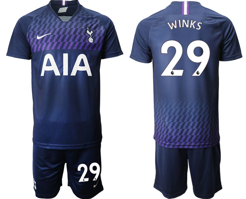 Men 2019-2020 club Tottenham Hotspur away 29 blue Soccer Jerseys