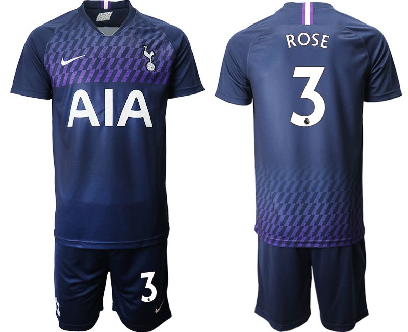 Men 2019-2020 club Tottenham Hotspur away 3 blue Soccer Jerseys