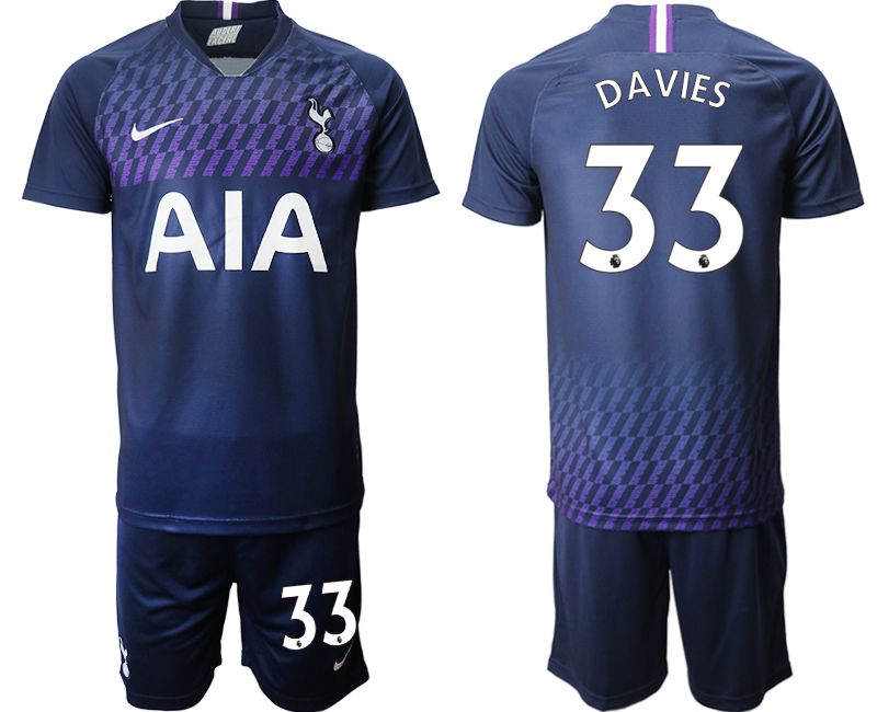 Men 2019-2020 club Tottenham Hotspur away 33 blue Soccer Jerseys
