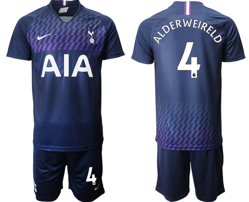 Men 2019-2020 club Tottenham Hotspur away 4 blue Soccer Jerseys