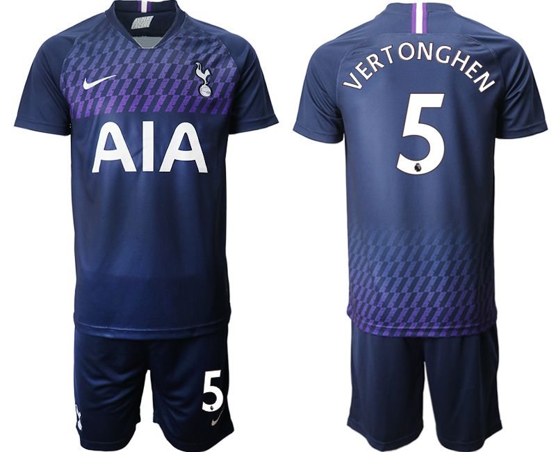 Men 2019-2020 club Tottenham Hotspur away 5 blue Soccer Jerseys