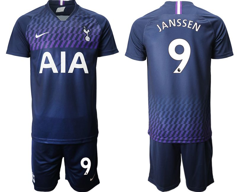 Men 2019-2020 club Tottenham Hotspur away 9 blue Soccer Jerseys
