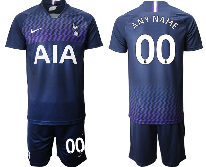 Men 2019-2020 club Tottenham Hotspur away customized blue Soccer Jerseys