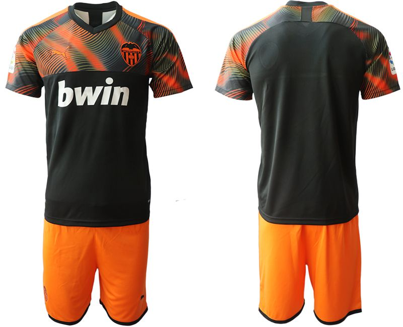 Men 2019-2020 club Valencia CF away blank black Soccer Jerseys