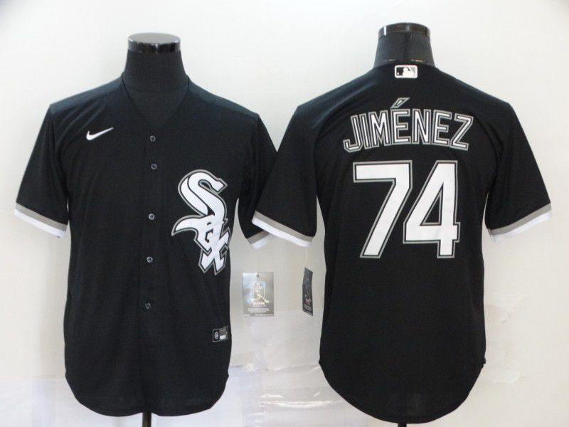 Men Chicago White Sox 74 Jimenez Black Game Nike MLB Jerseys