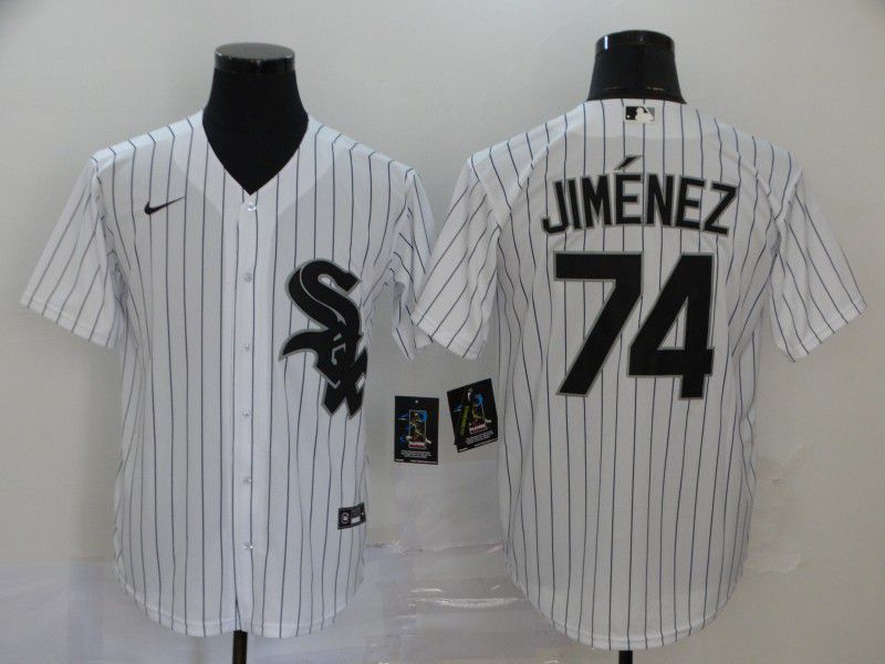 Men Chicago White Sox 74 Jimenez White Game Nike MLB Jerseys
