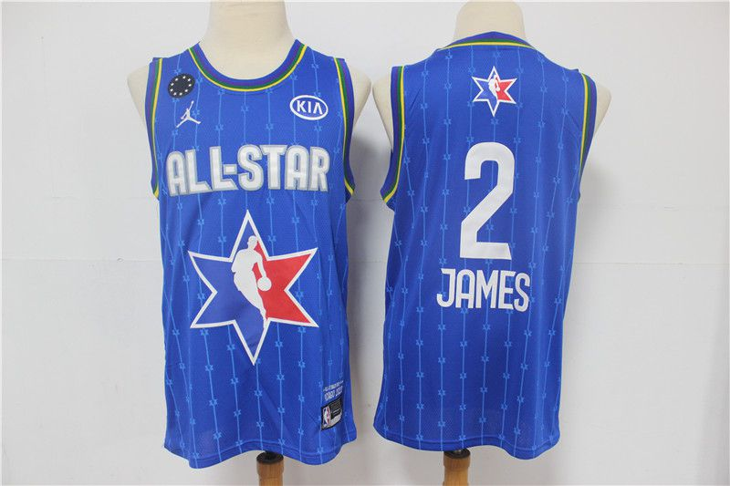 Men Los Angeles Lakers 2 James Blue 2020 All Star NBA Jerseys