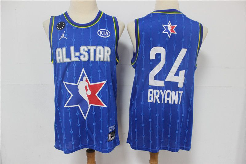 Men Los Angeles Lakers 24 Bryant Blue 2020 All Star NBA Jerseys