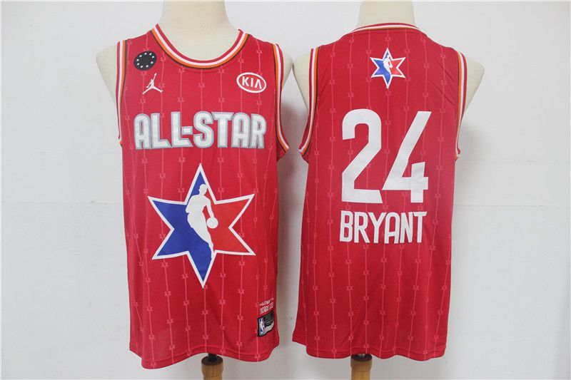 Men Los Angeles Lakers 24 Bryant Red 2020 All Star NBA Jerseys