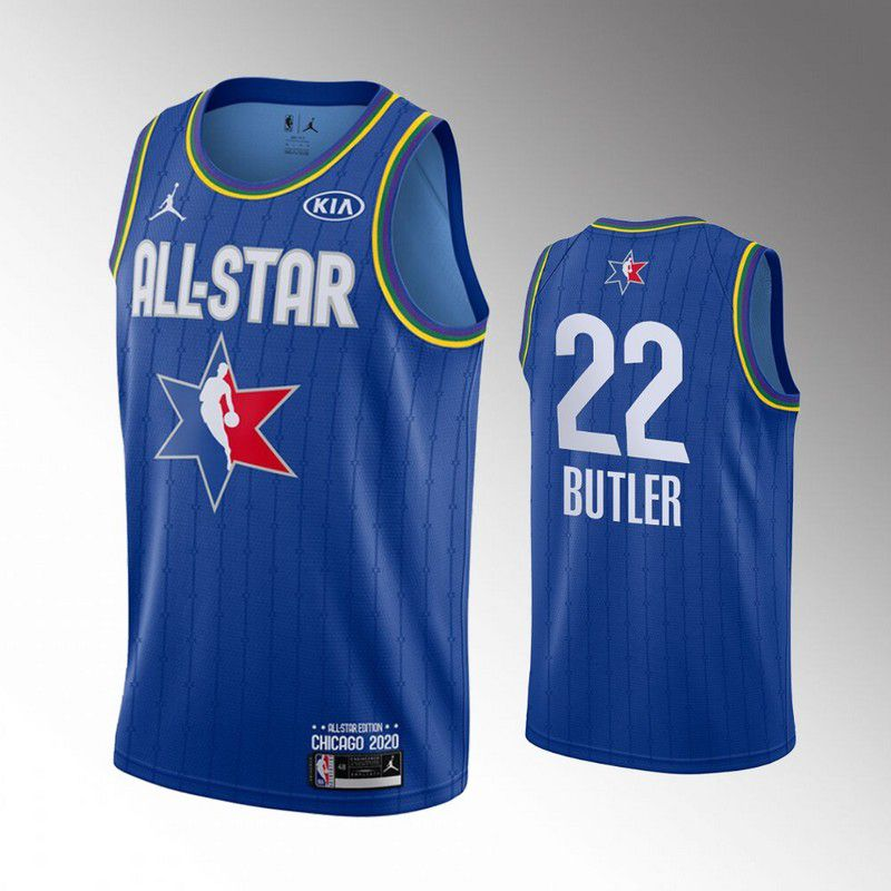 Men Miami Heat 22 Butler Blue 2020 All Star NBA Jerseys