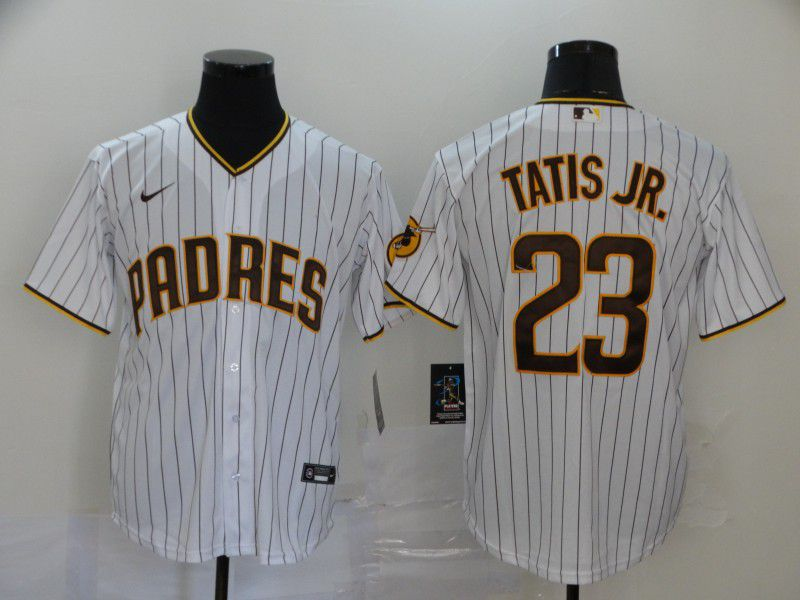 Men San Diego Padres 23 Tatis jr White Nike Game MLB Jerseys