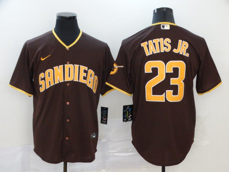 Men San Diego Padres 23 Tatis jr brown Nike Game MLB Jerseys